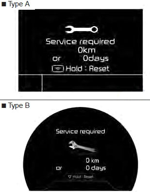 reset kia oil service required 2